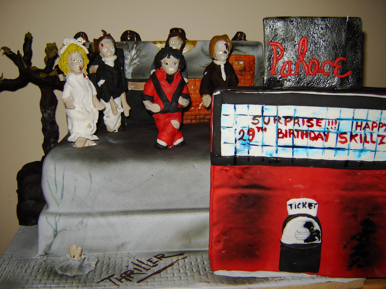 Michael Jackson Thriller Photo Cake Image Edible Birthday Topper By