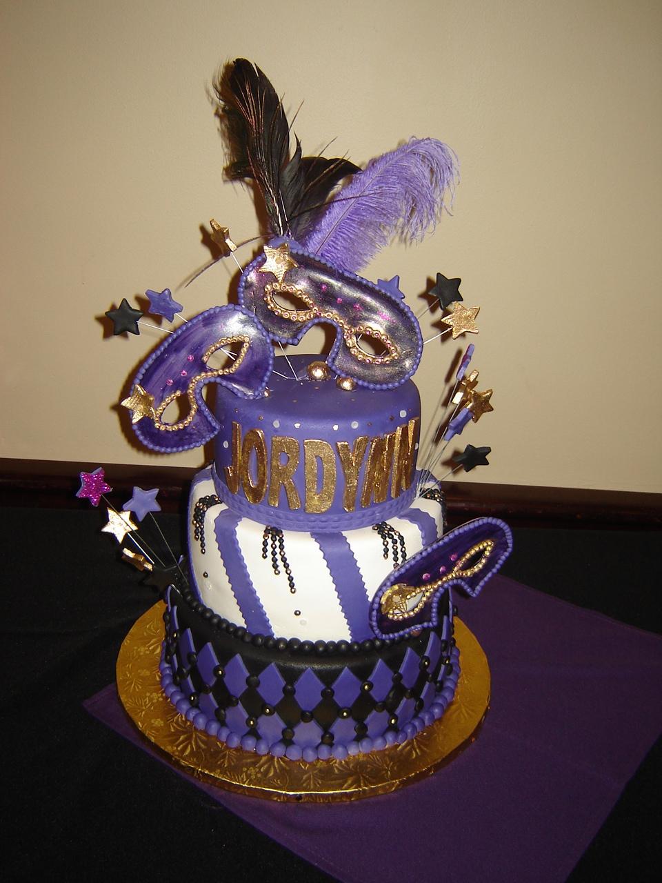 PURPLE MASQUERADE - Olga's Cake Works Corp